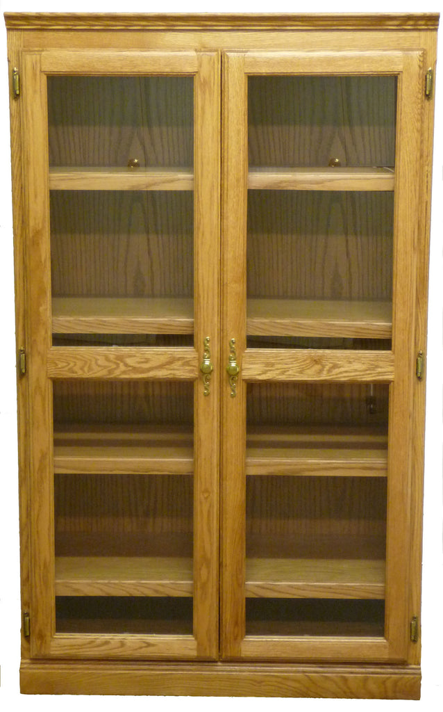 Forest Designs Traditional Bookcase with Glass Doors: 36W x 60H x 18D