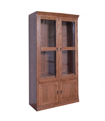 Forest Designs Mission Bookcase with Full Doors: 48W x 84H x 18D