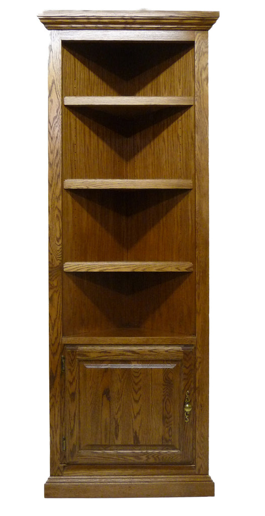 Forest Designs Traditional Corner Bookcase with Lower Door: 72H (27 X 27 f/Corner)