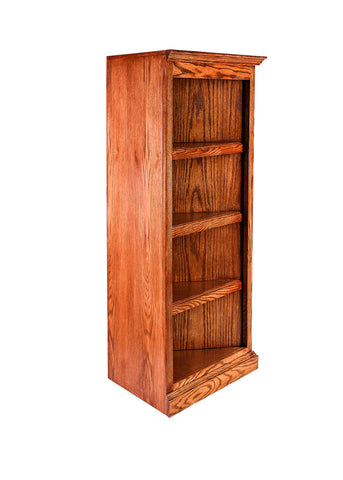 Forest Designs Traditional Oak Corner Bookcase: 27 x 27 from Corner 48H
