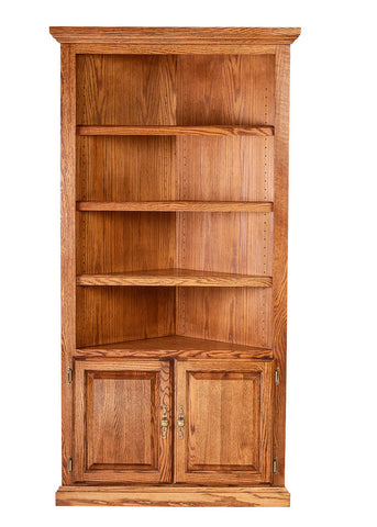 Forest Designs Traditional Oak Corner Bookcase: 27 x 27 from Corner 72H