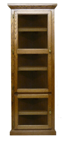 Forest Designs Traditional Corner Bookcase with Glass Doors: 72H (27 X 27 f/Corner)