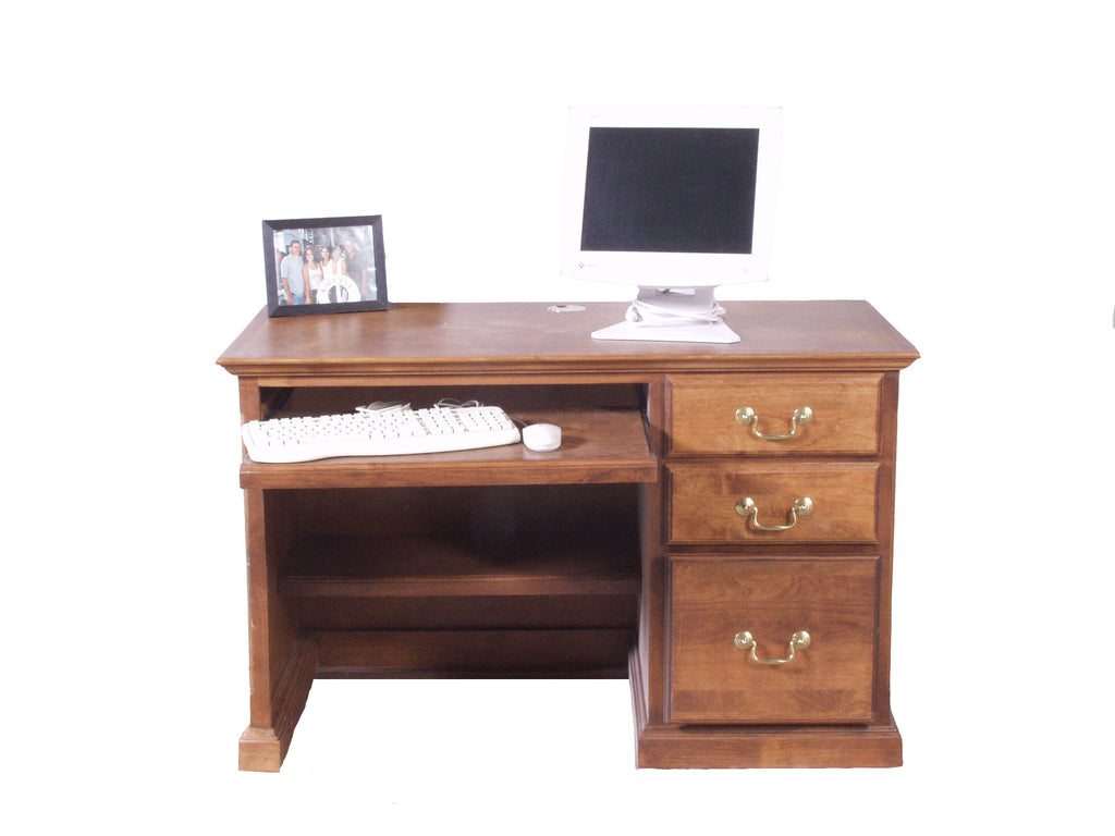 Forest Designs Traditional Desk: 48W X 30H X24 D with Keyboard Pullout