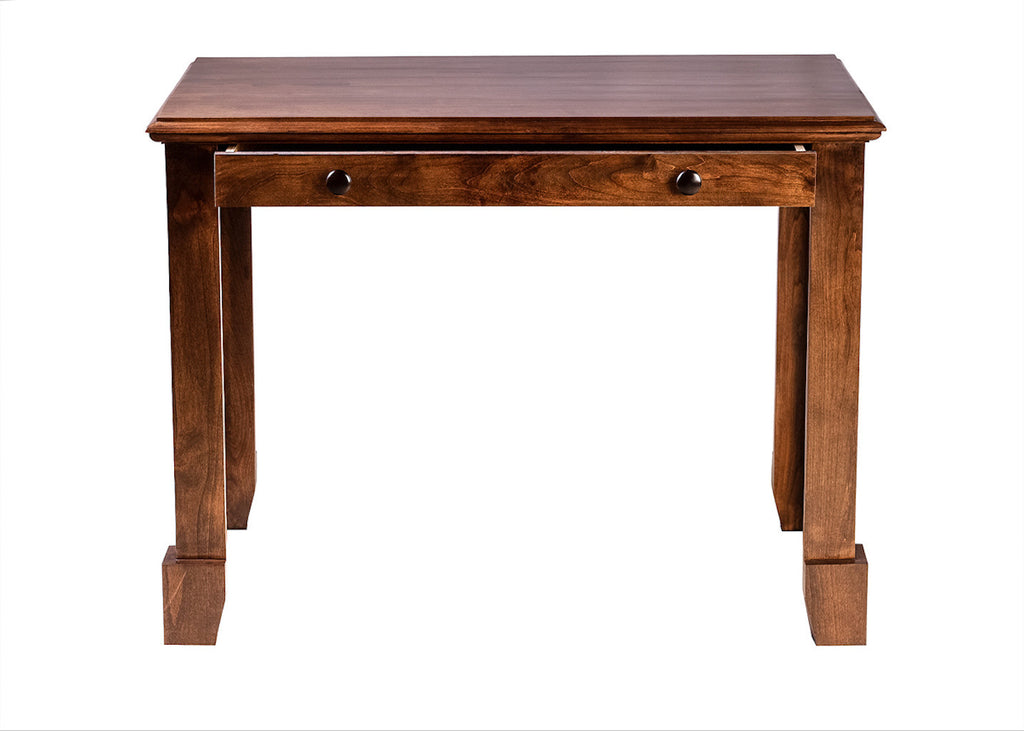 Forest Designs Shaker Alder Writing Table w/ Drawers: 42W X 30H X 24D
