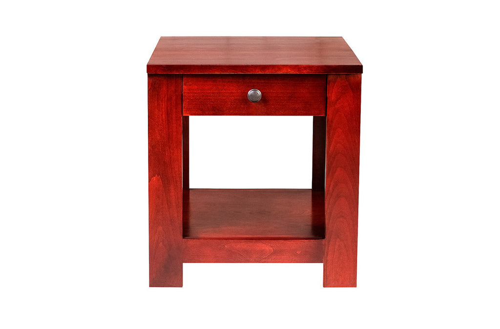 Forest Designs Urban Alder End Table: 21W X 20H X 24D (Black Knobs)