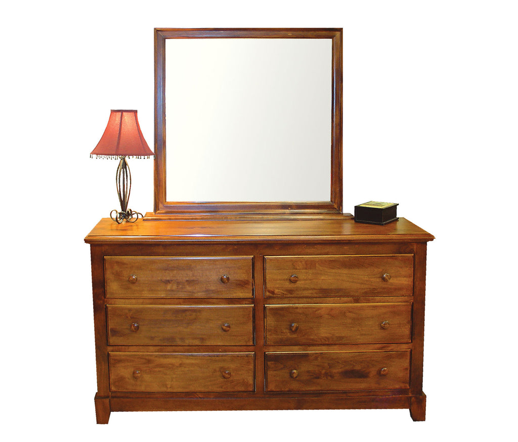 Forest Designs Shaker Six Drawer Dresser: 60W x 32H x 18D (No Mirror)