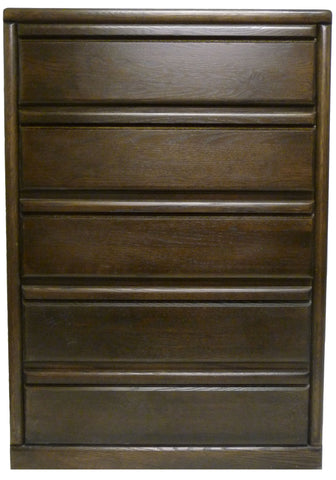 Forest Designs Bullnose Five Drawer Chest: 34W x 48H x 18D