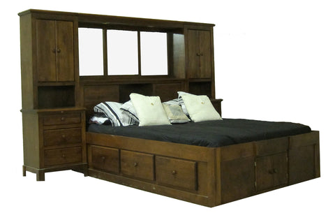 Forest Designs Shaker Queen Pier Wall & Platform Bed