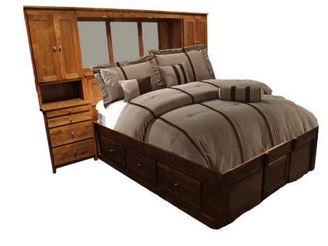 Forest Designs Urban Queen Pier Wall, Platform Bed, & Headboard