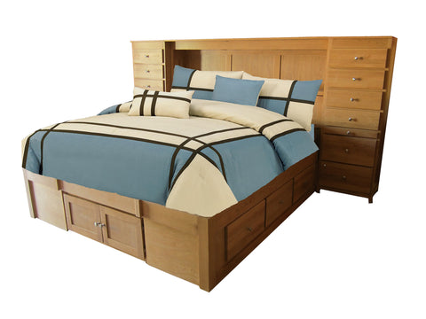 Forest Designs Urban Queen Platform Bed: 63W x 20H x 83D