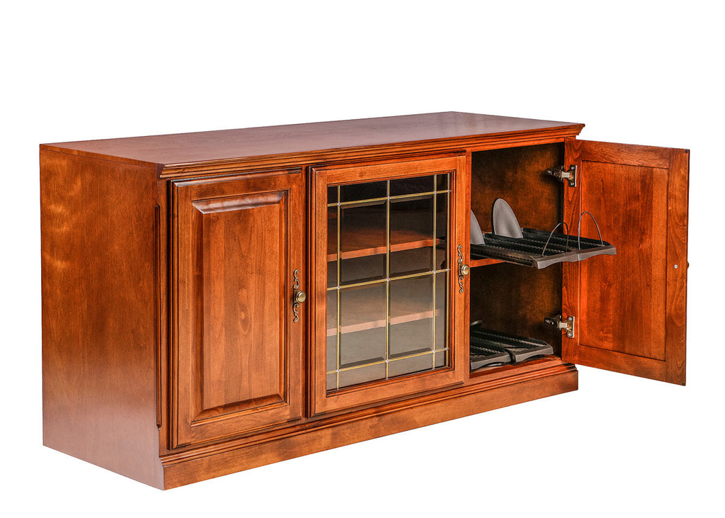 Forest Designs Traditional Alder TV Stand with Media Storage: 56W x 30H x 21D