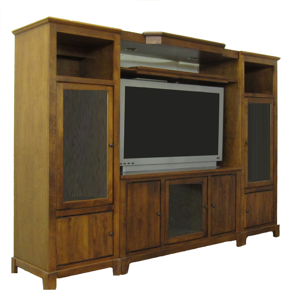 Forest Designs Shaker Three Piece Wall & TV Stand & Adjustable Shelf