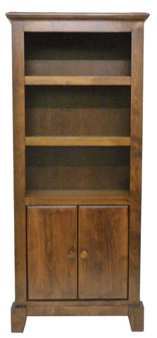 Forest Designs Shaker Bookcase with Lower Doors: 24W x 60H