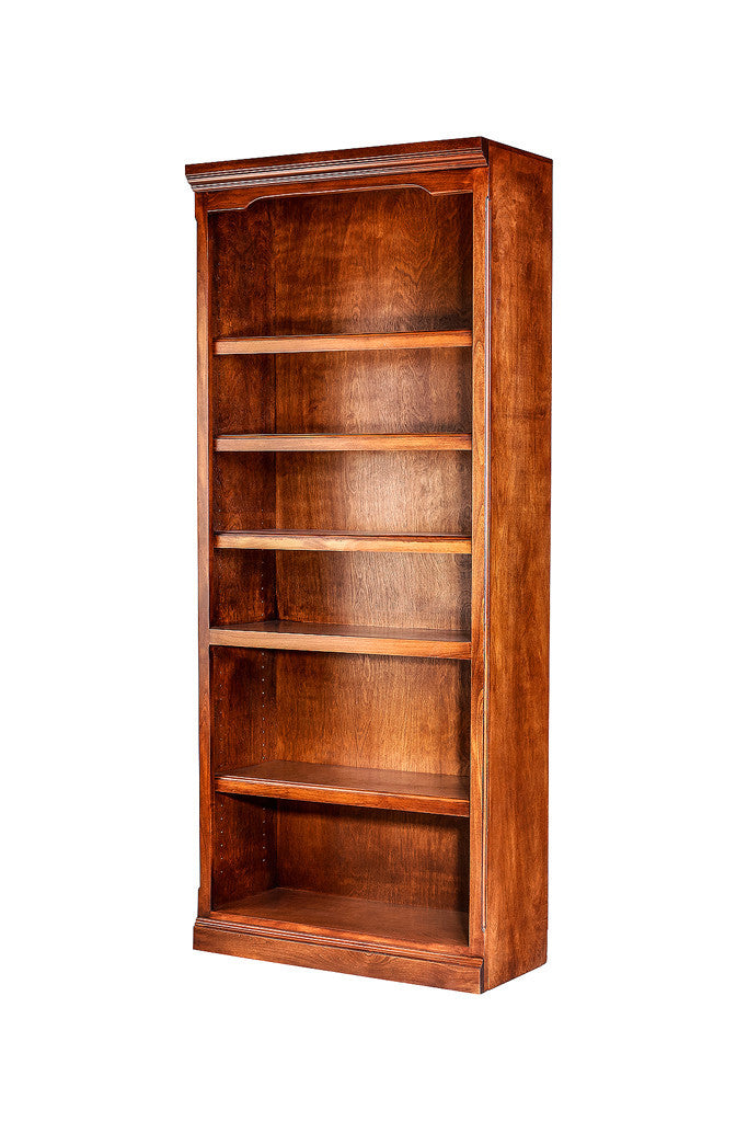 Forest Designs Traditional Alder Bookcase: 30W x 72H x 13D w/ 30H Lower Doors