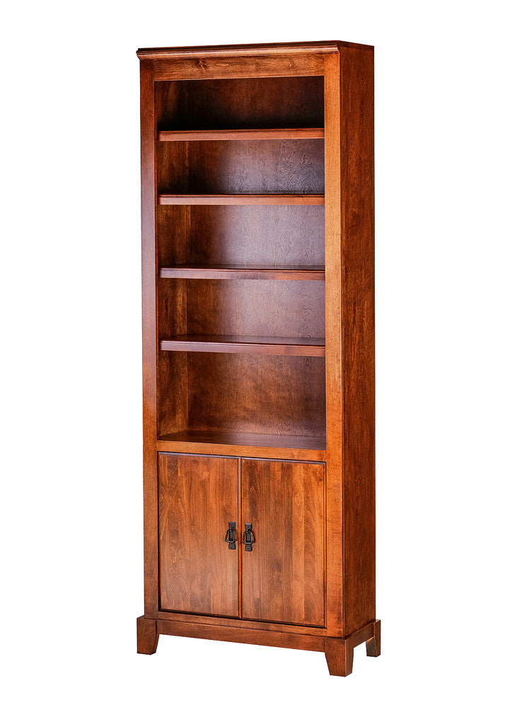 Forest Designs Shaker Alder Bookcase: 30W X 84H X 13D w/ 30H Lower Doors