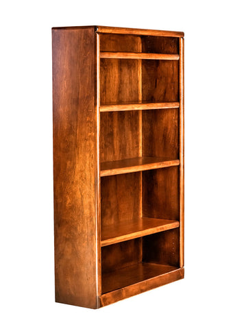 Forest Designs Bullnose Alder Bookcase: 36W x 60H x 13D