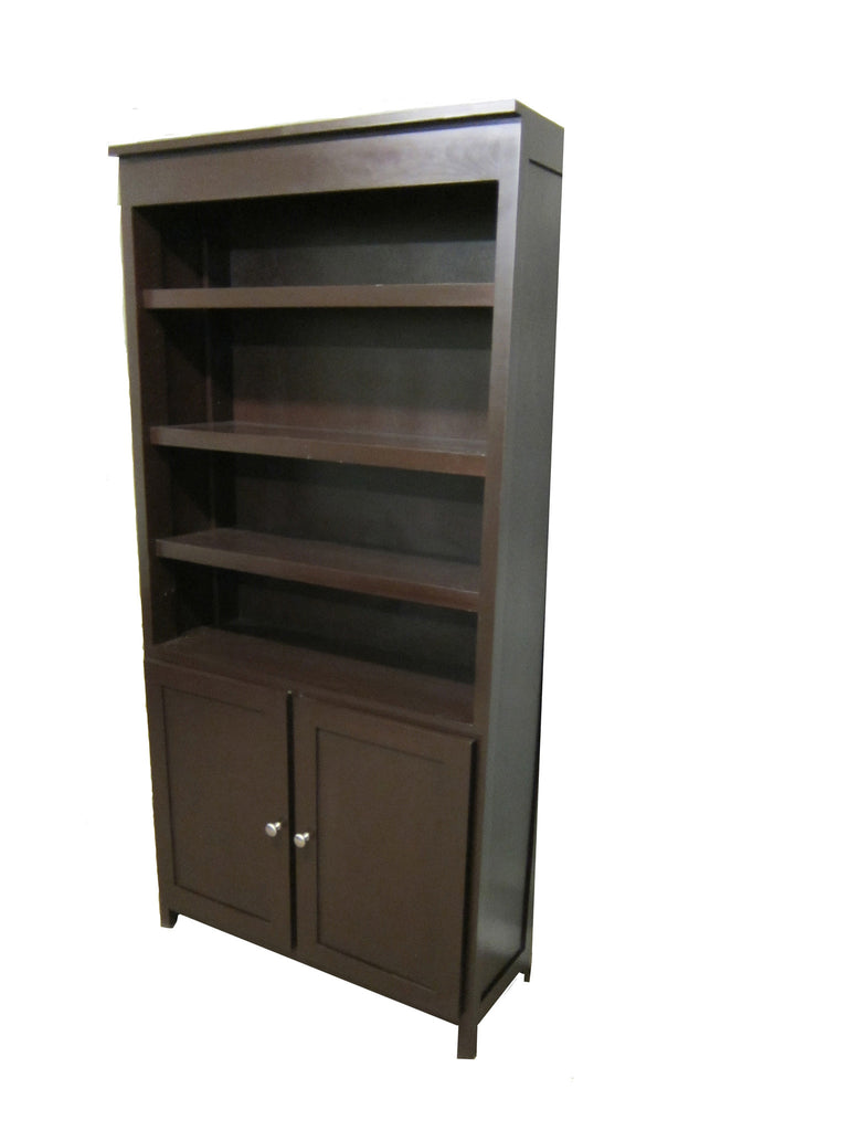 Forest Designs Urban Bookcase with Lower Doors: 36W x 72H X 13D