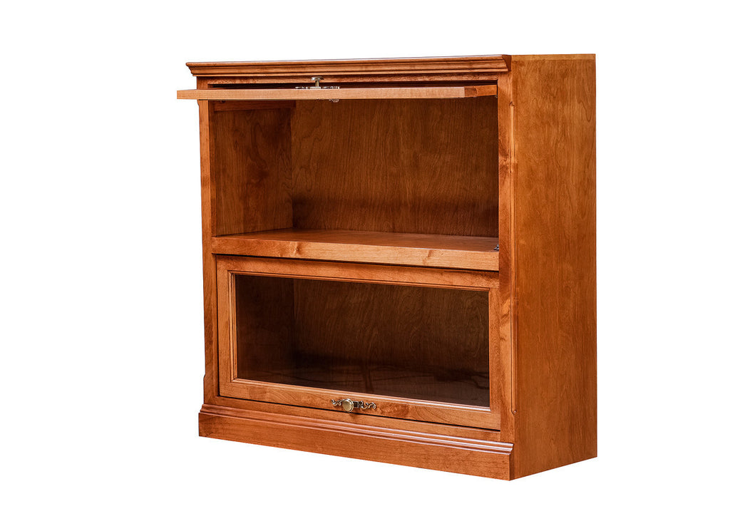 Forest Designs Traditional Alder Lawyer Bookcase: 36W X 35H X 13D (Two Doors)