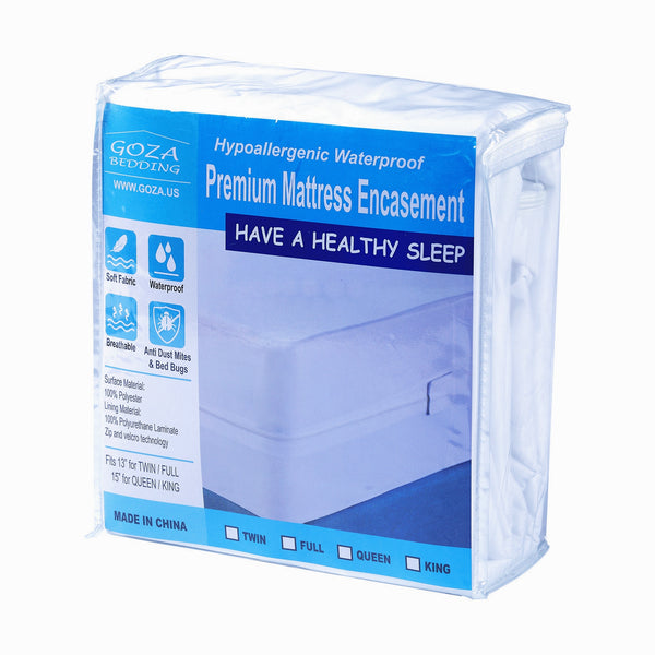 Goza Bedding Hypoallergenic Waterproof Zippered Mattress Encasement