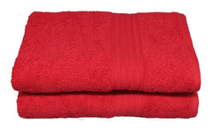 tomato red bath towel