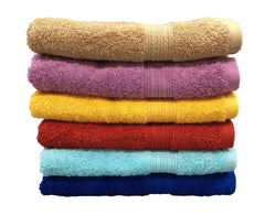 multi color bath towels