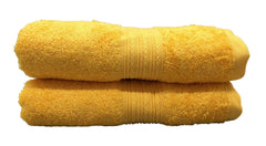 gold yellow bath towel