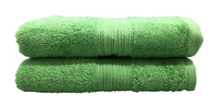 light green bath towel