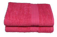 raspberry bath towel
