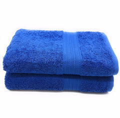 royal blue bath towel