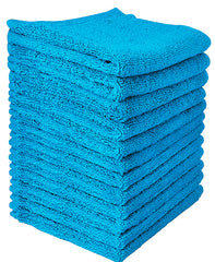 aqua blue cotton washcloth
