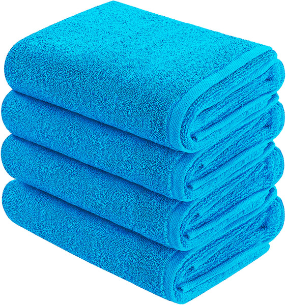 auqa blue hand towel