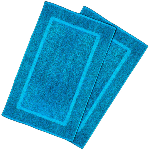 aqua blue bath mat