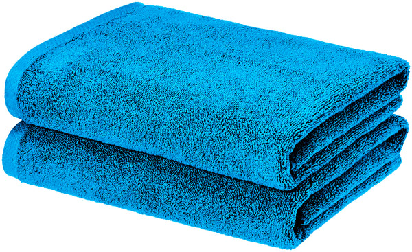 aqua blue bath towel