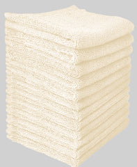 Goza Towels Cotton Washcloths (12 Pack, 12 x 12 inch)