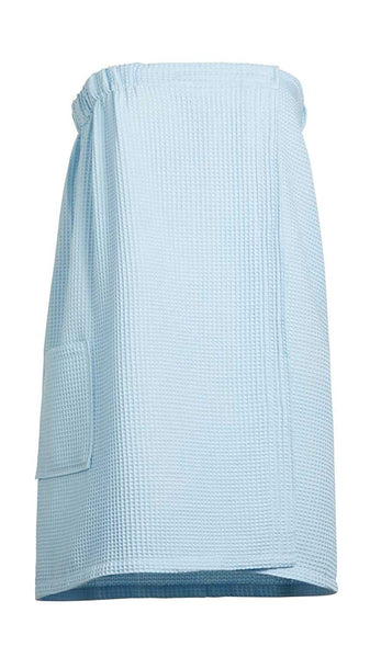 Goza Towels Women's Spa Bath Shower Waffle Wrap Towel with Pocket - Gozatowels