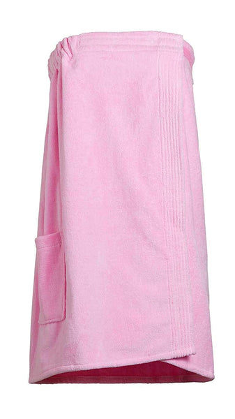 Goza Towels Women's Spa Bath Shower Terry Velour Cotton Wrap with Pocket
