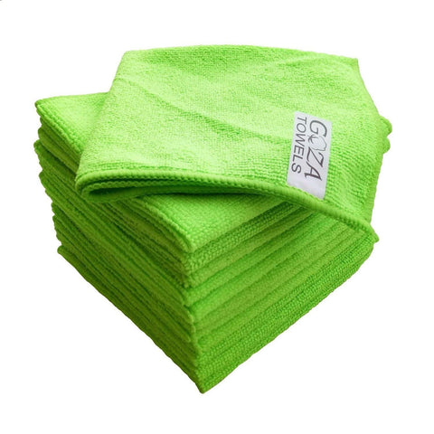 green microfiber cloth