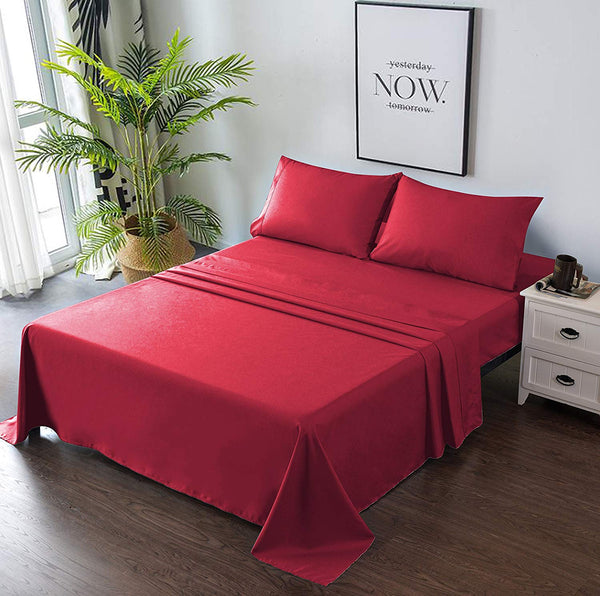 red bedding set