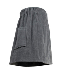 grey men's towel wrap