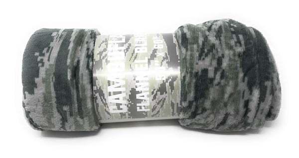 Goza Flannel Fleece Throw Blanket - Camouflage