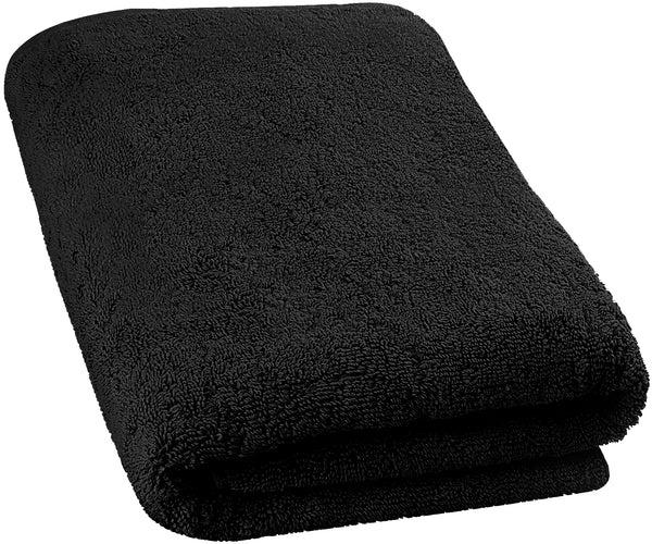 black bath sheet