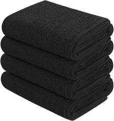 black hand towel