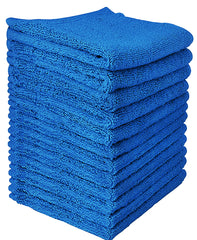 classic blue cotton washcloth