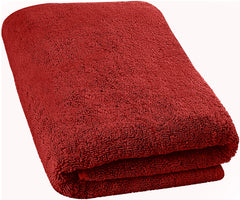 burgundy bath sheet