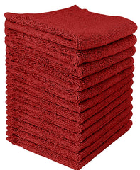 burgundy cotton washcloth