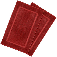 red bath mat