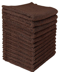 dark brown cotton washcloth