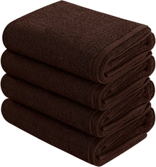 dark brown hand towel