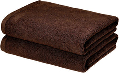 dark brown bath towel