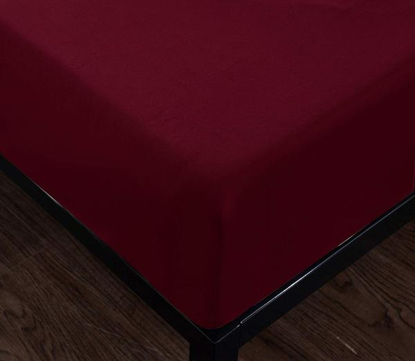 burgundy fitted sheet